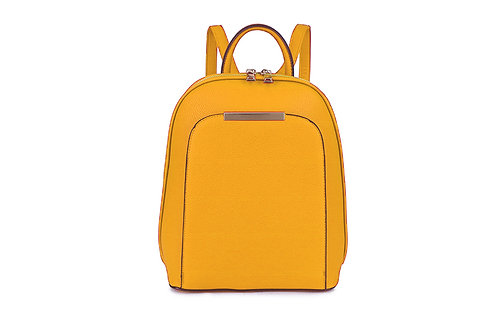 Compact Back pack with many compartments in Mustard.