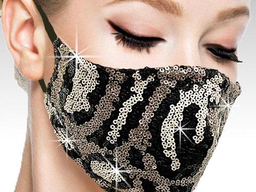 Sequin Zebra Mask