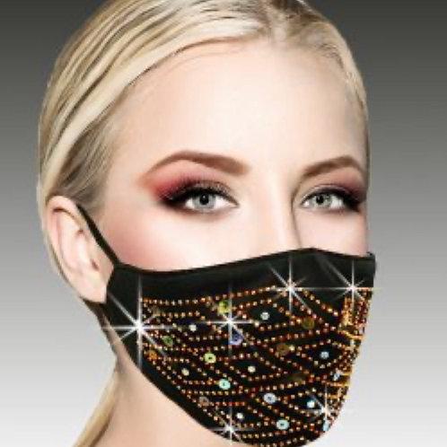 Gold Diamond Sparkle Mask