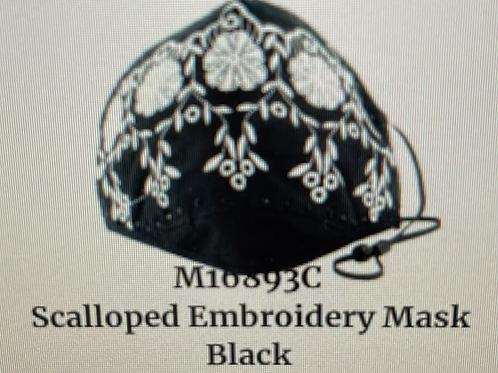 Black & white Scallop Design