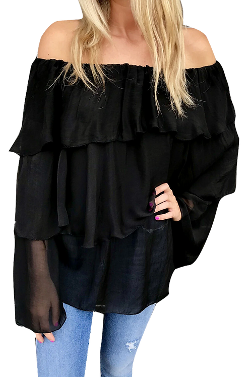 Sofia Amy Off the Shoulder Black