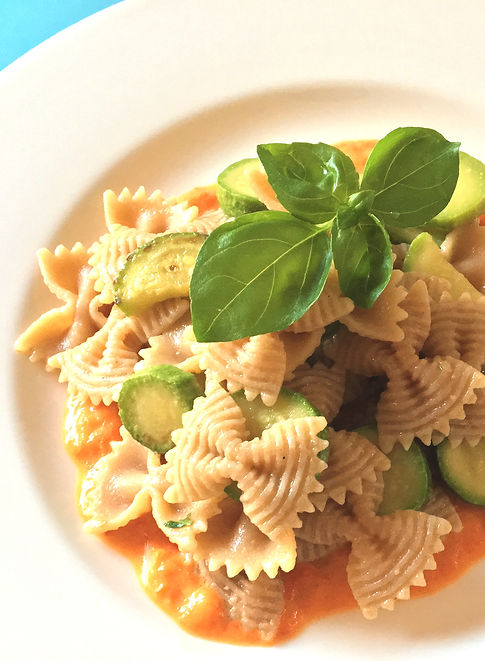 farfalle zucchine e crema peperoni 2.JPG