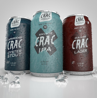 The Crac Brewery Beer Can Packaging
