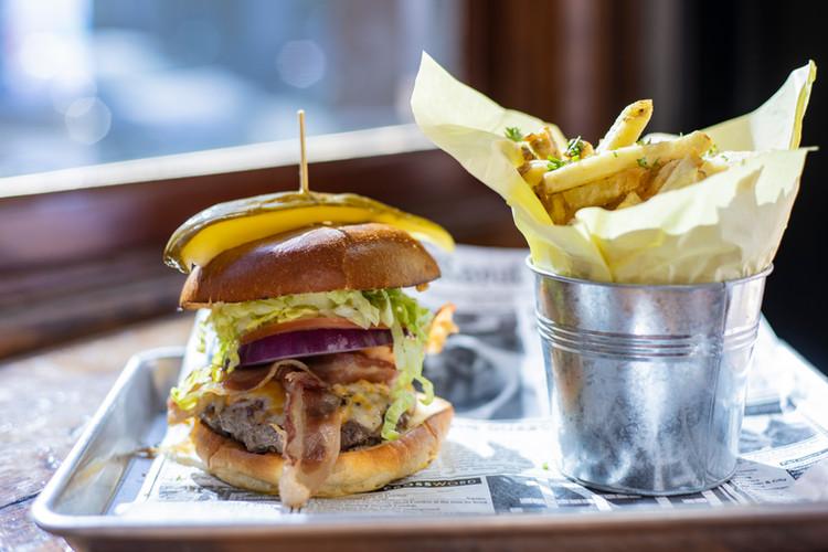 Stuffed Bacon Bleu Burger