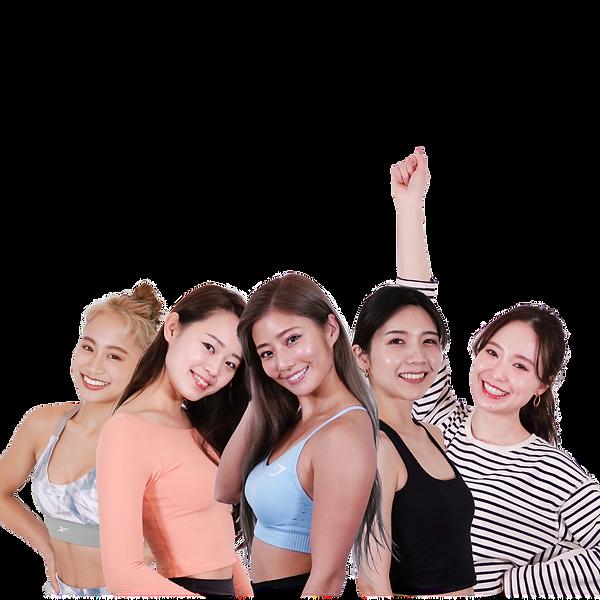 パフォーマー集合写真(左から田辺莉咲子、tsuki、田上舞子、久木元かおり、三ツ石佳央莉)