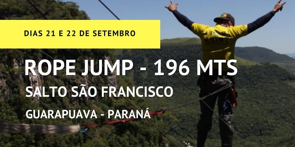 Salto São Francisco - PR - 196 Metros - O MAIOR Rope Jump comercial da América Latina