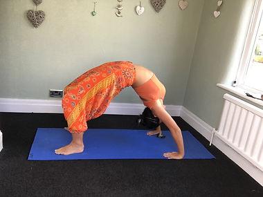 Yoga pose Chakrasana