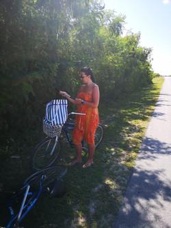 Bike ride to Pillar Beach, Cuba
