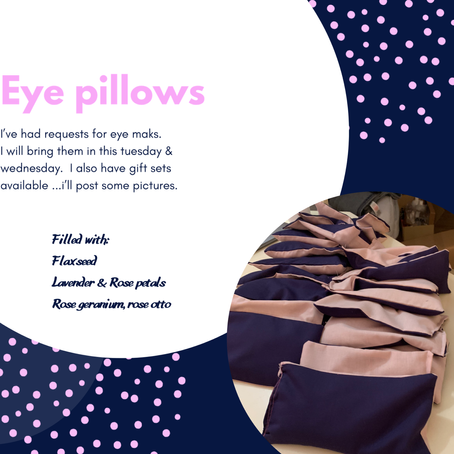 Why weighted eye pillows?