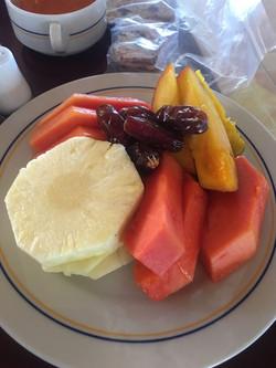Healthy holiday breakfast