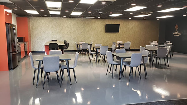 32 Seats Fridge Coffee Machine Dishwashers 8 Tables 6 Bar Stools Chalk Board Wall TV Microwave Event Space Lounge Arcade