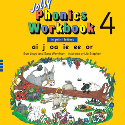Jolly Phonics Workbook 4 (US / in print letters)