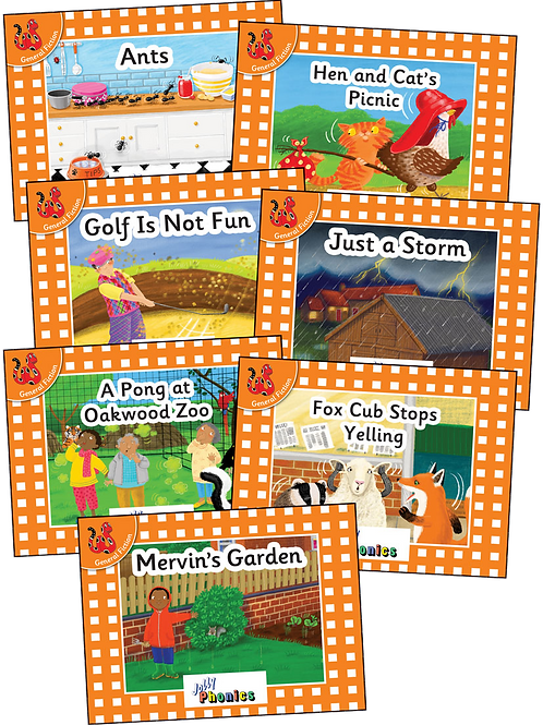 Jolly Phonics Orange Level Readers (Pre-Cursive Letters)