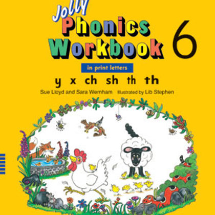 Jolly Phonics Workbook 6 (US / in print letters)