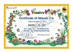 05_Phonics Attendance Certificates Sampl