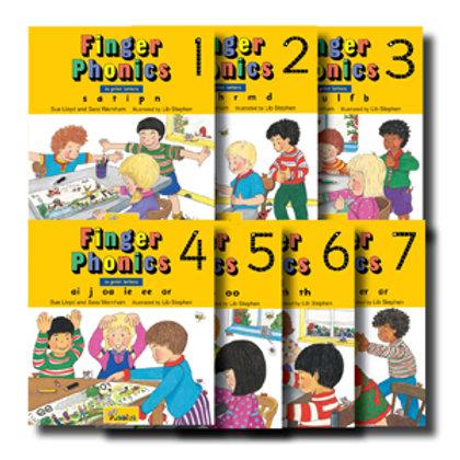 Finger Phonics Books 1~7 Set (US / in print letters)