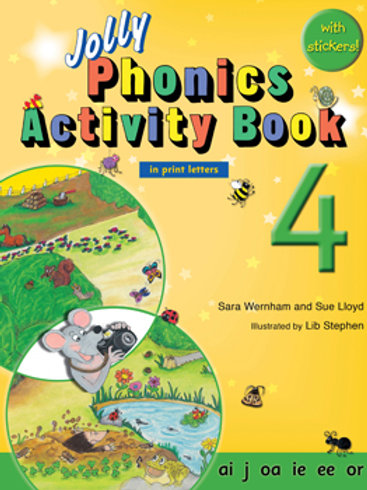 Jolly Phonics Activity Book 4 (US / in print letters)