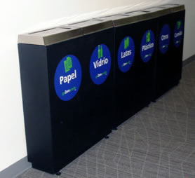 cestos para reciclaje