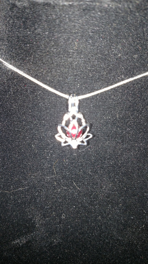 Lotus Flower Cage Pendant Silver Plated With 925 Sterling Silver