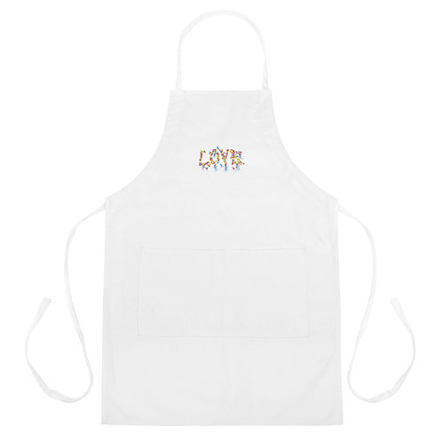 Love Collection Embroidered Apron