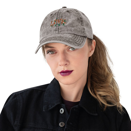 Love Collection Embroidered Vintage Cotton Twill Cap