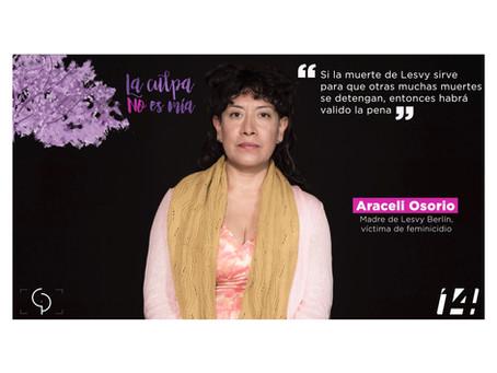 Areceli Osorio. Retrato XVI de la serie documental #laculpanoesmia