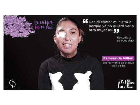 Esmeralda Millán. Retrato VIII de la serie #LaCulpaNoEsMia Episodio II. La conquista