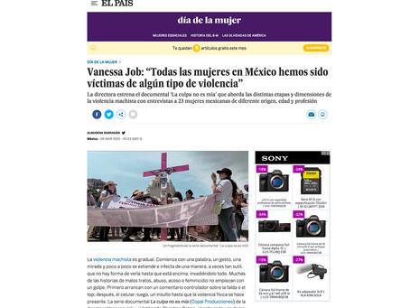 Almudena Barragán, del Diario El País, escribe sobre la serie #LaCulpaNoEsMia