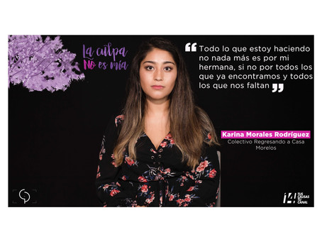 Karina Morales Rodríguez. Retrato XIII de la serie documental #laculpanoesmia