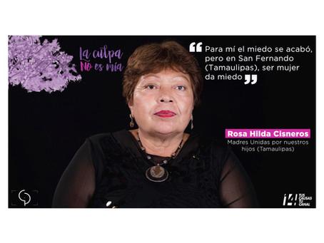 Rosa Hilda Cisneros. Retrato XII de la serie documental #laculpanoesmia