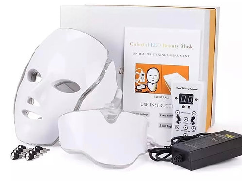 7 Color LED Light Beauty Mask for Face and Neck