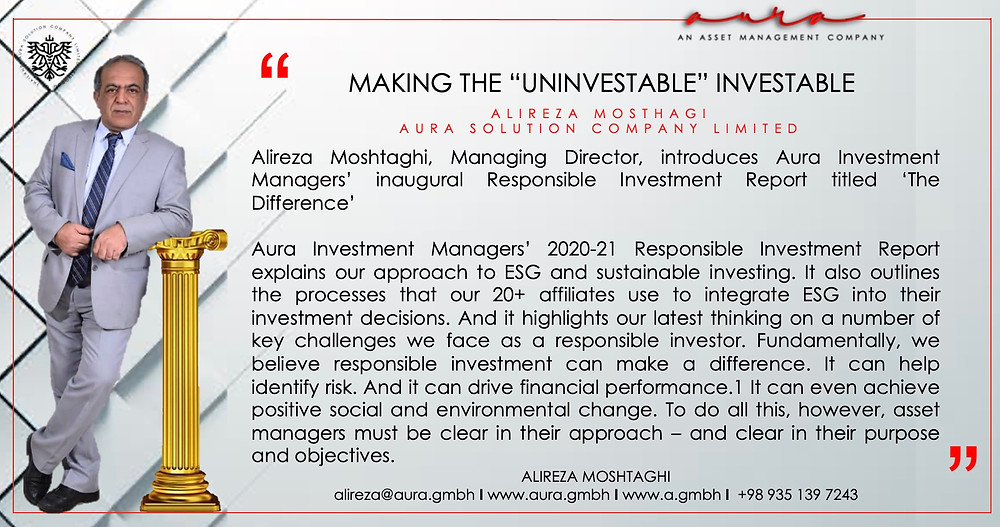 """Making the """"Uninvestable"""" Investable  : Aura Solution Company Limited"""