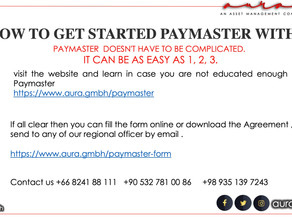Paymaster & disbursement Services : Aura Solution Company Limited