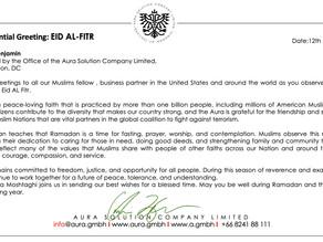 Eid-Ul-Fitr Greetings : Aura Solution Company Limited