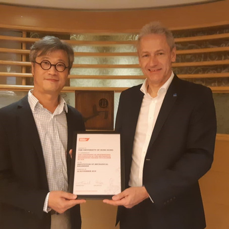 Centenary recognition of HKU Mechanical Engineering degree by IMechE