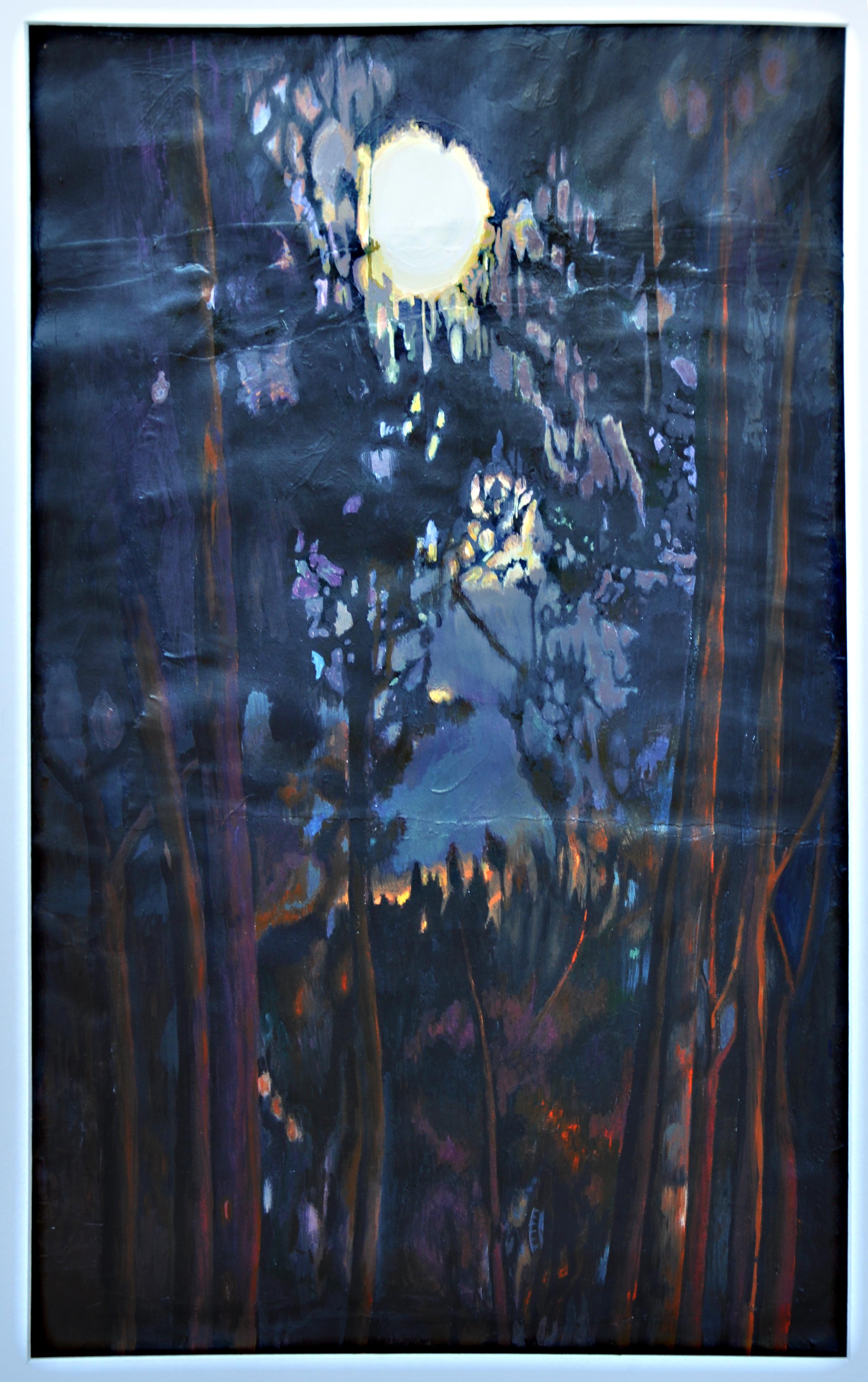 Moon Through Tall Pines