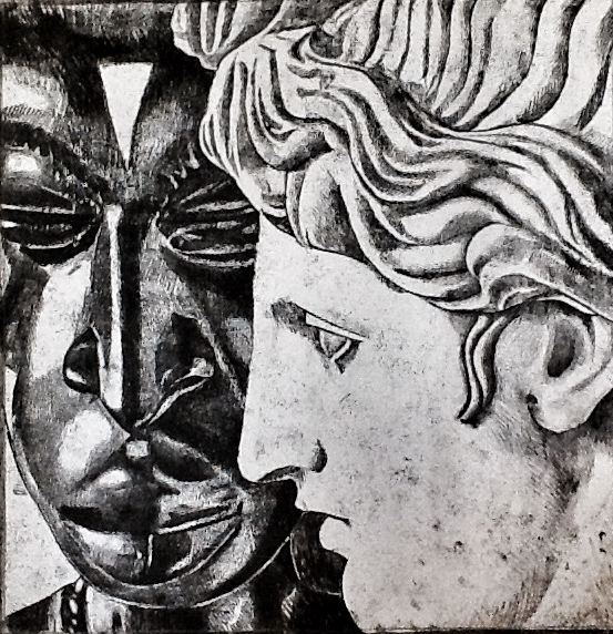 Two Heads Monoprint