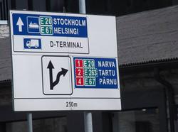 Ferryport in Estonia.