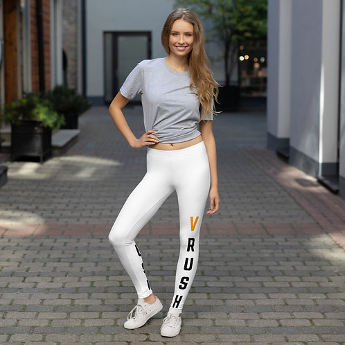 VRush Logo - Leggings - White