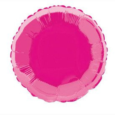 "Balloon Foil 18"" Round Hot Pink"