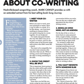 8 Things to know about co-writing