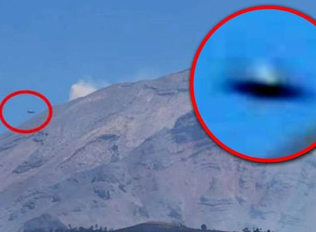 Massive UFO Spotted Over Volcano in Mexico