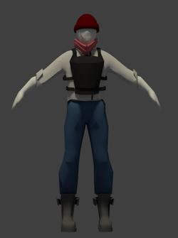 vest with pants front