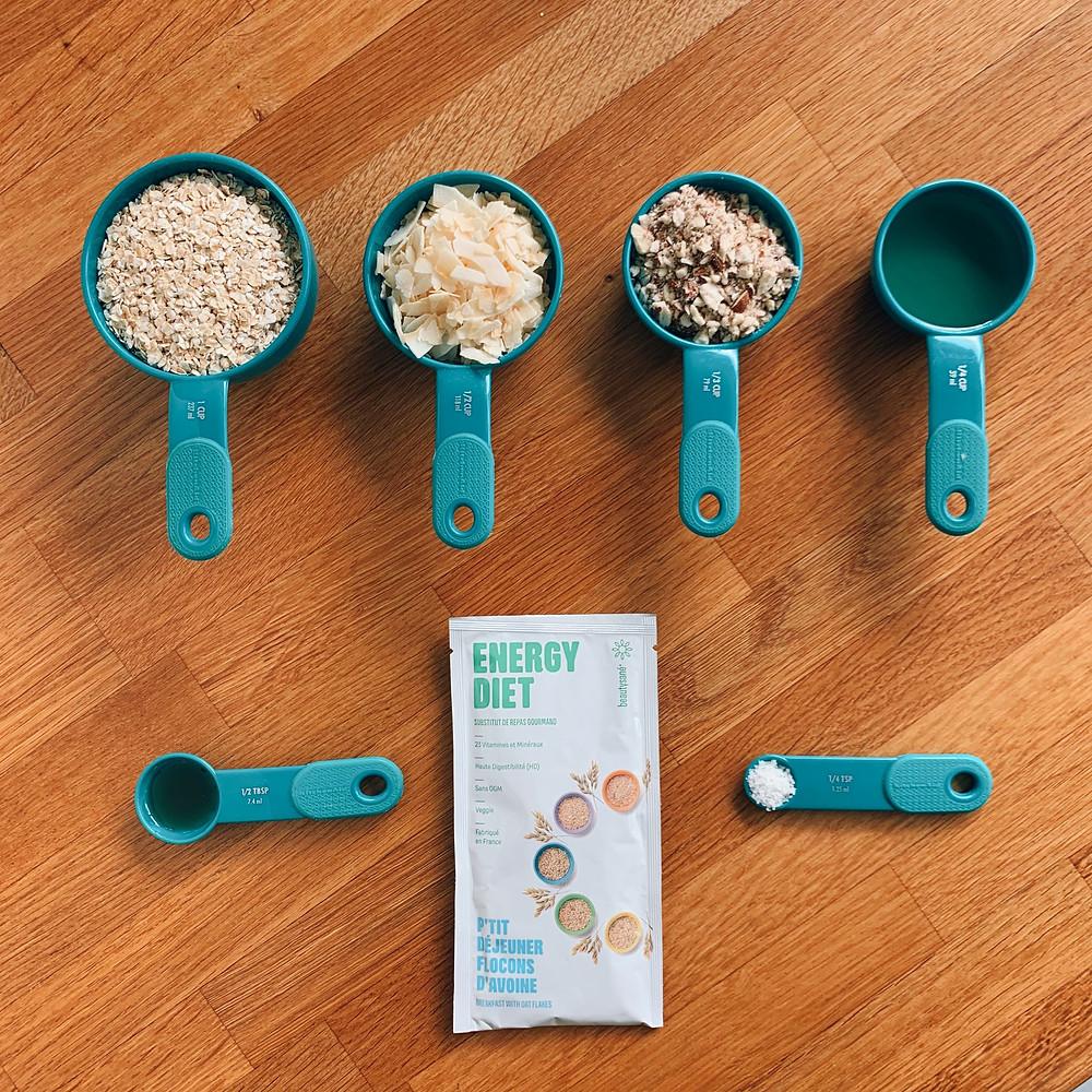 Les 7 ingrédients pour faire mon Granola Crunchy-Coco