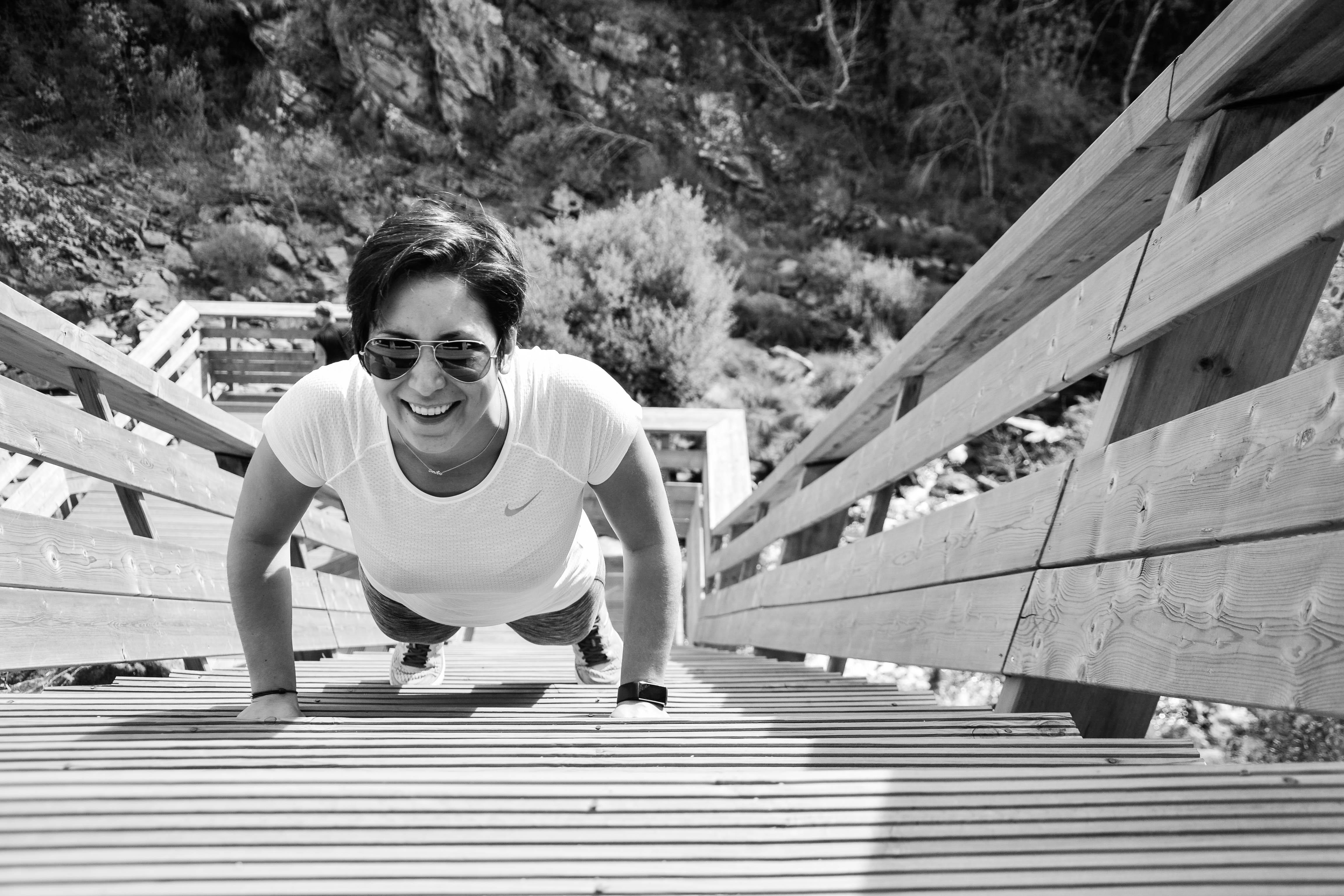 Entrainement sur escalier