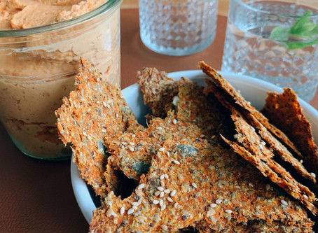 Recette maison de Crackers à la carotte 🥕🥕pour l'Apéro