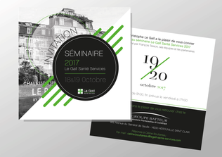 Invitation Card, Le Gall Santé Service