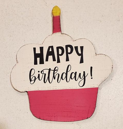Birthday Cupcake Pink