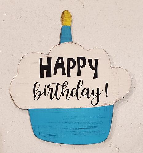 Birthday Cupcake Blue