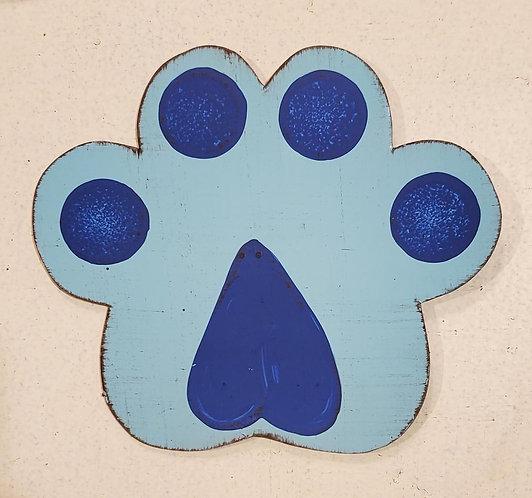 Dog Paw Blue